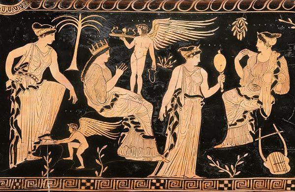 Иасо на краснофигурной вазе около 425 года до н.э